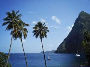 Anchored between the Pitons