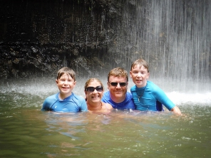 Bridges Family at Toraille Waterfall