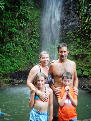 Skinner Family at Toraille Waterfall