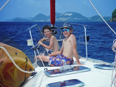 Will & Jacob on the bow