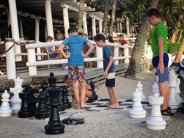 Playing chess at Windjammer Landings