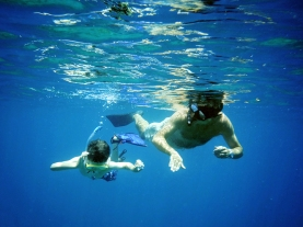 Daddy & Will snorkelling