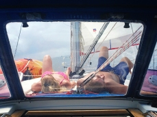 Chilling on the foredeck