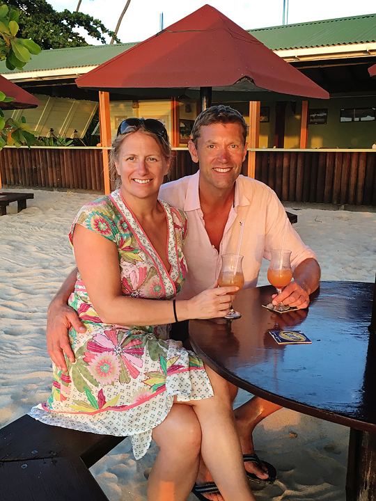 Alison & Alan at Coconut Beach