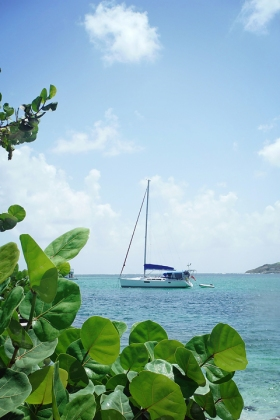Serena anchored off Petit St Vincent