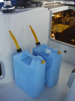 full jerry cans ready to go
