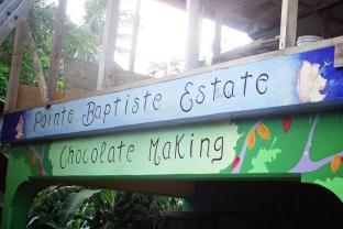 Chocolate tasting at the Pointe Baptiste Estate